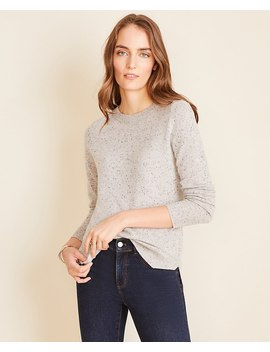 Flecked Cashmere Sweater by Ann Taylor