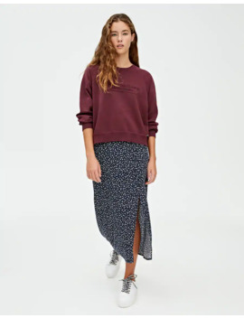 Floral Midi Skirt by Pull & Bear