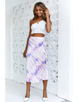 Pray For The Wicked Midi Skirt Pink by Hello Molly