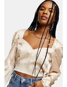 Tie Shoulder Prairie Blouse by Topshop
