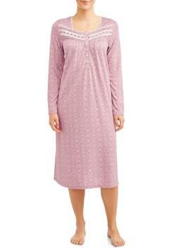 Secret Treasures Women's And Women's Plus Traditional Long Sleeve Sleep Gown by Secret Treasures