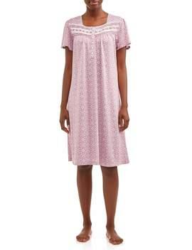 Secret Treasures Women's And Women's Plus Traditional Flutter Sleeve Sleep Gown by Secret Treasures