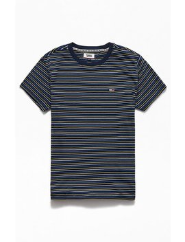 Tommy Jeans Fine Striped T Shirt by Pacsun