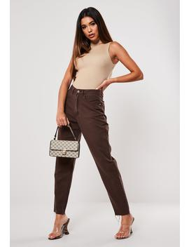 Chocolate Riot High Waisted Mom Jeans by Missguided
