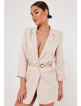 Gold Look Heart And Ring Belt by Missguided
