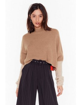 No Looking Back Colorblock Cropped Sweater by Nasty Gal