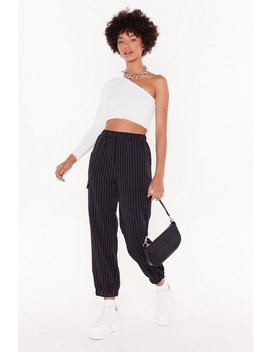 Line To Five Pinstripe Cargo Pants by Nasty Gal