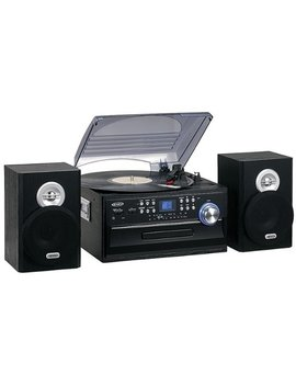4 W Cd Stereo System With Cassette, Turntable And Am/Fm Radio   Black by Jensen