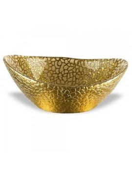 Red Pomegranate 4412 1 6 In. Celebration Bowl, Gold   Set Of 4 by American Granby Inc.