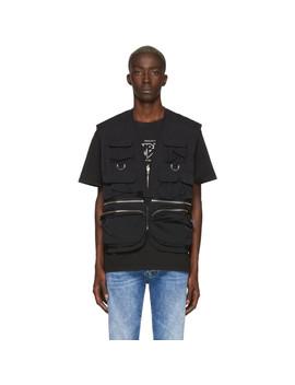 Black Fisherman Vest by Misbhv