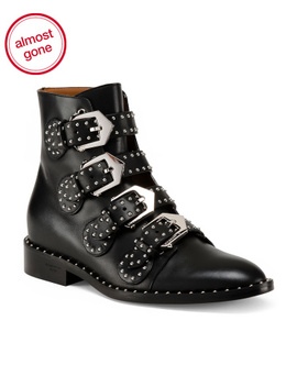 Made In Italy Studded Leather Booties by Tj Maxx