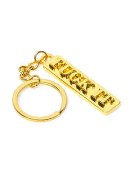 Huf Fuck It Key Chain (Gold) by Huf