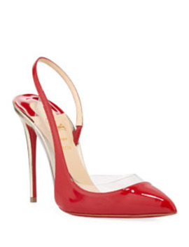Optic Sexy Asymmetric Red Sole Pumps by Christian Louboutin