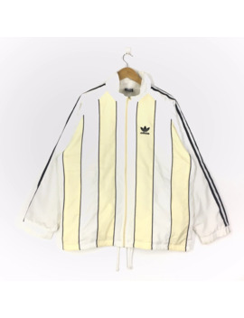 Vintage Adidas Sweater Stripe Line Colourful Design by Adidas  ×  Vintage  ×