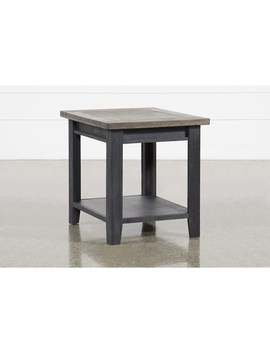 Dixon Black End Table by Living Spaces