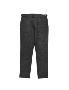 Corridor Wool Tweed Lined Trouser   Charcoal by Garmentory