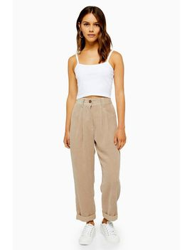 Petite Casual Corduroy Trousers by Topshop