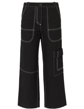 Cropped Straight Leg Cotton And Wool Blend Drill Pants by 3.1 Phillip Lim