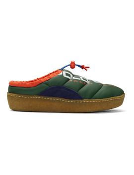 Green Polo Sport Myles Puffer Loafers by Polo Ralph Lauren