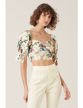 Kalani Crop Top   Lemon by Tigerlily