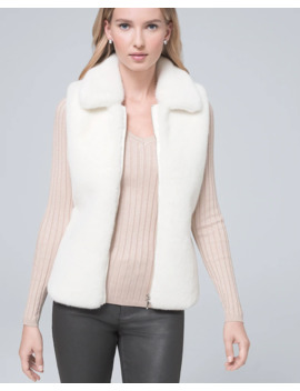 Faux Fur & Ribbed Knit Vest by Whbm