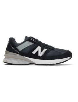 Navy New Balance Edition M990 V5 Sneakers by Junya Watanabe