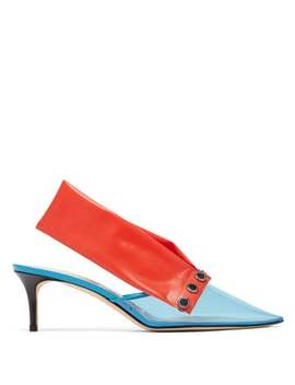 Detachable Strap Pvc Kitten Heel Mules by Christopher Kane