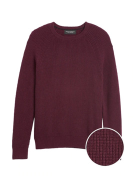 Cashmere Waffle Knit Sweater by Banana Repbulic