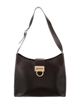 Gancio Leather Shoulder Bag by Salvatore Ferragamo