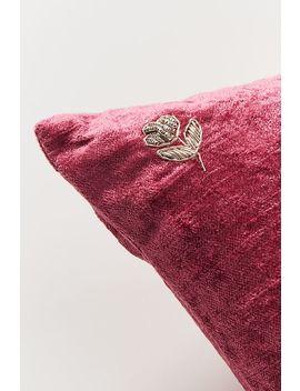 Embellished Velvet Antoinette Pillow by Anthropologie