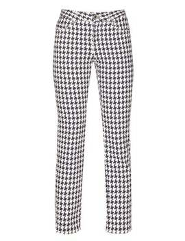 Cropped Houndstooth Denim Trousers by Alexander Mc Queen
