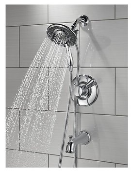 T17493 I Linden Pressure Balanced Tub And Shower Faucet With Monitor by Delta