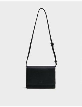 Small Structured Crossbody Bag In Black by Baggu Baggu