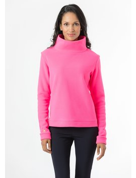Park Slope Turtleneck (Neon Pink) by Dudley Stephens