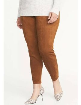 Old Navy Women's Stevie Brown Copper Faux Suede Legging Fitted Pants Plus 1 X by Old Navy