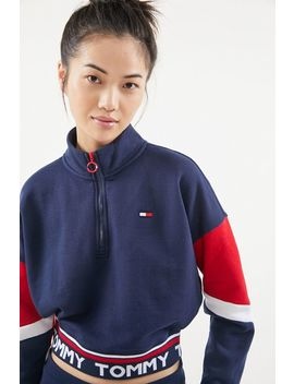 Tommy Hilfiger Colorblock Half Zip Sweatshirt by Tommy Hilfiger