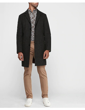Plaid Recycled Wool Water Resistant Topcoat by Express