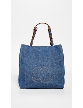 Chanel Blue Medium Tote by What Goes Around Comes Around