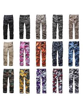 Mens Womens Casual Fashion Camo Cargo Pants Military Combat Army Style Bdu Pants by Backbone