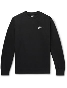 Sportswear Club Logo Embroidered Cotton Blend Tech Fleece Sweatshirt by Nike