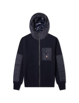 Moncler Grenoble Nylon Hooded Knitted Jacket by Moncler Grenoble