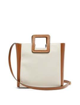 Shirley Canvas And Leather Tote Bag by Staud