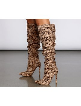 Spotted From Afar Stiletto Boots by Windsor