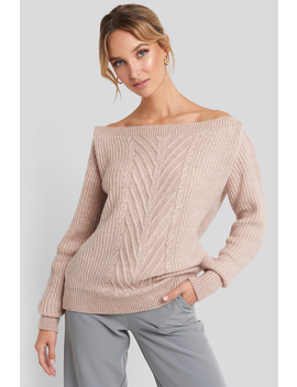 Off Shoulder Knitted Sweater Rosa by Trendyol