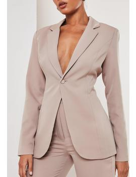 Mauve Co Ord Skinny Classic Blazer by Missguided