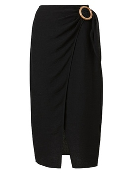Textured Wrap Skirt by Witchery