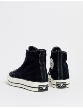 Converse Chuck '70 Suede Sneakers In Black by Converse