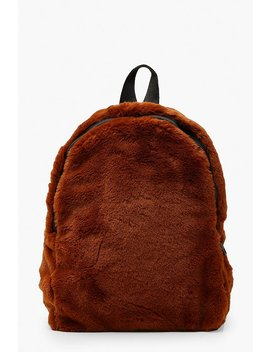 Faux Fur Sports Strap Rucksack by Boohoo