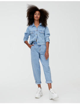 Jeans Slouchy Tiro Alto by Pull & Bear