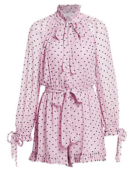 Polka Dot Silk Playsuit by Zimmermann